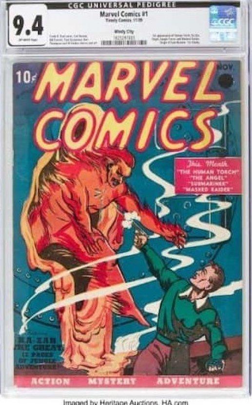 Marvel'in ilk çizgi romanına 1.26 milyon dolar #1